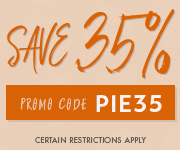 Save with promo code PIE35